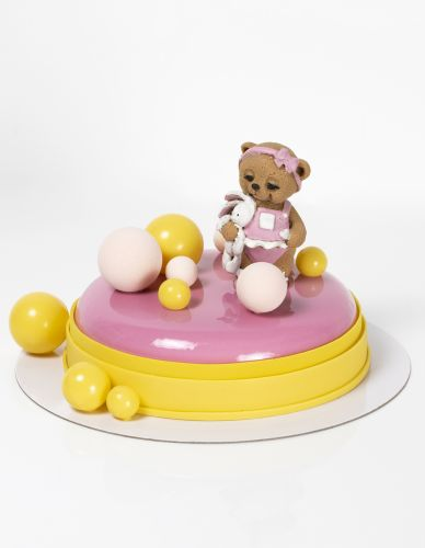Pink and Yellow bubbles (Bear)